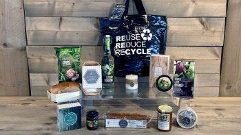 Duurzaam met Fietstas shopper - kerstpakket Kruger Geschenken