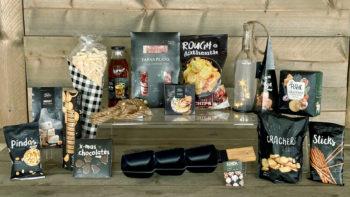 Tapas pakket met serveerschaaltje en wijnlamp - Kruger Geschenken