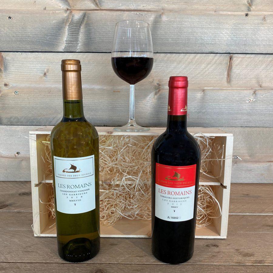 Les Romains 2 Flessen Wijn Kruger Geschenken