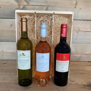 Les Romains 3 Flessen Wijn Kruger Geschenken